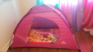 Disney Princess Dome Tent with Sleeping bag $25
