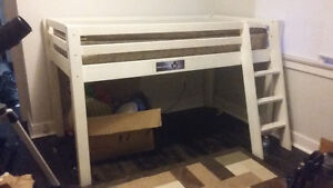 Youth **loft** wood bed frame