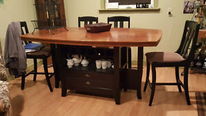 Pub Style Dining Room Table w/ Five Chairs