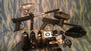 Tippmann paintball package with Cam