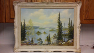 Listed Canadian artist E.Jalava oil painting