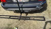 SOLID CAST IRON BIRT BIKE CARRIER/SMALLER HITCH OR BIGGER