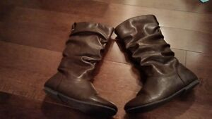 Girls Brown Boots Size 13