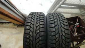 2 Brand New 225/60 R16  Tires,  Studded, Never On Car