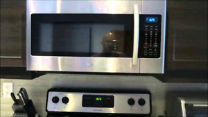 Samsung stainless steel over the range