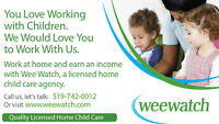Child Care, Day Care - Become a Provider with Wee Watch