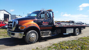 2009 Ford F-650 Flat Bed Tow truck