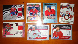 montreal  habs hockey cards jersey--autog...