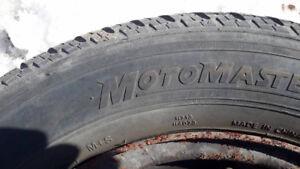 4 pneus 185x65x14 sur roues honda civic 4 trous