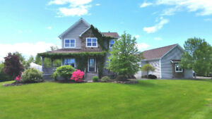 GARDENER'S DREAM CUSTOM HOME WITH WATER VIEW NEAR SHEDIAC, NB