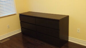 Malm 3 drawer chest/dresser