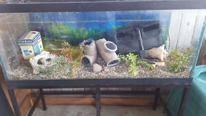 75 gallon complete fish tank and stand