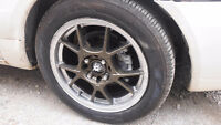 """rims 15"""" 4x114 4x100 with new tires"""