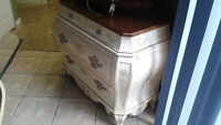 Hand painted Commode