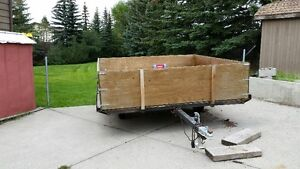 8 X 8 sled trailer converted to utility