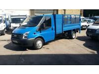 2008 / 08 Plate Ford Transit 2.4TDCi ( 115PS ) 350 LWB Caged Tipper / Tail Lift
