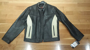 BLACK AND WHITE LEATHER JACKET by Danier Leather --- $150 OBO