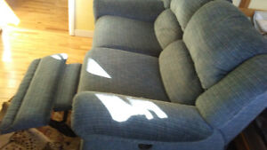 double lazy boy style couch