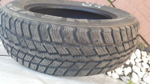 Winter tires, used only 1 Winter, like new!
