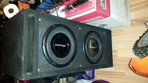 Car audio sub woofers in a box (2) 10 inch woofers