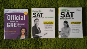 3 SAT and GRE Test Prep Books