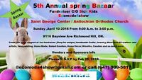 Vendors Wanted, Bazaar,Fundraiser for The Hospital for Sick Kids