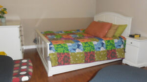 Queen size furnished room for rent min one week or longer stay