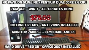 HP Pavilion Slim-Line Desktop PC for Sale