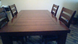 Newer Solid Oak Table