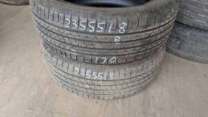 Pair of 2 Toyo Open Country A20 235/55R18 tires (70% tread life)