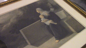 1915 Scarce Print Virgin Mary at Calvary by E. Piaz, France Kitchener / Waterloo Kitchener Area image 2