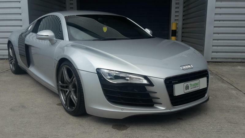 audi r8 v8 4 2 r tronic 2009 quattro in silver in irlam. Black Bedroom Furniture Sets. Home Design Ideas