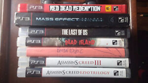 Various PS3 games for sale (individual or bundle)