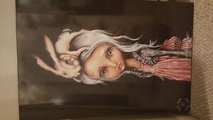 """Angelina Wrona """"Bunny Couture"""" Painting"""