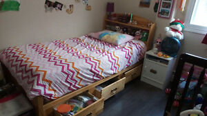 Solid wood Captain's bed