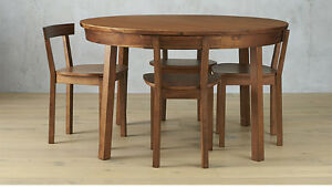 Gorgeous CB2 5 piece claremont dining set - table and 4 chairs