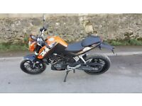 KTM 125 DUKE ABS 2015 (VERY LOW MILES 1700)