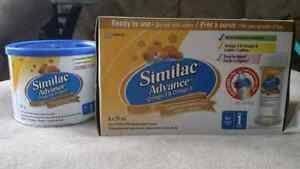 Similac Advance ready feed bottles and small powdered formula