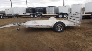 New 2017 H&H trailers 12' all aluminum flatbed / utility trailer