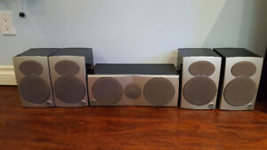 Athena Point 5 mkII surround and definitive technology sub