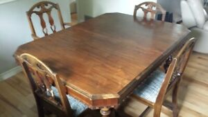 ANTIQUE TABLE ....BUFFET...CHINA CABINET
