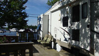 40FT  Two bedroom 5th-wheel on the water front Lake Huron