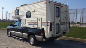 Clean non smoking  camper for sale,  maybe2003 gmc Sierra also