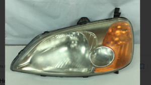 2001 honda civic pair of headlight lens