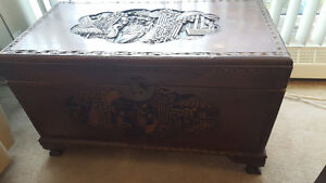 Hand Carved Blanket Box China Early 1900