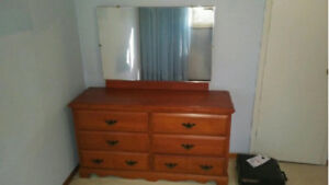 WOOD DRESSER With Mirror