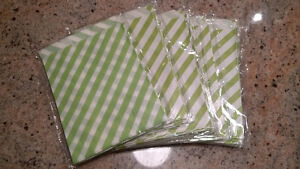 Green and White Paper Craft Bags (qty 200)
