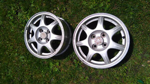 Mazda 7 spoke alloy rims