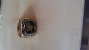 NHL 1991 Pittsburgh Penguins Stanley Cup Championship Replica Ri