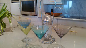 Martini shaker and glass set new
